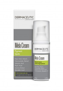 Mela Cream Box + Bottle facing